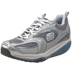 Skechers Shape-Ups xf - Accelerators - Chaussures bien être femme - Argent, 39.5 EU