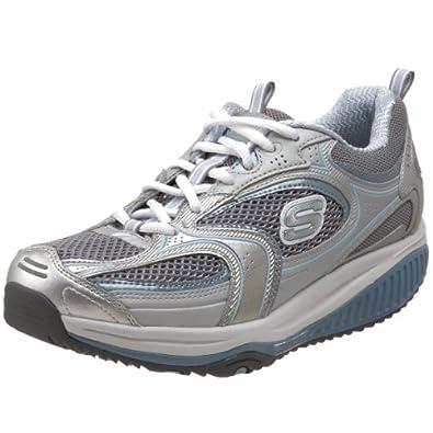 Skechers Women's Shape-Ups XF Accelerators Wellbeing Shoe Women's Silver Silber (SLBL) Size: 4.5
