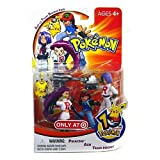 Pokemon Mini Action Figure Set Ash vs Team Rocket Pack with Pikachu, Ash & Team Rocket