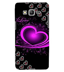 ColourCraft Love Heart Design Back Case Cover for SAMSUNG GALAXY GRAND PRIME G530H