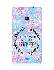 AMEZ people who love to eat are always the best people Back Cover For Microsoft Lumia 535