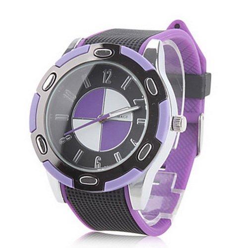 Women's and Men's Rubber Analog Quartz Purple Dial Wrist Watch (Assorted Colors)