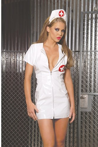 Sexy Vinyl nurse dress (Adult) lingerie