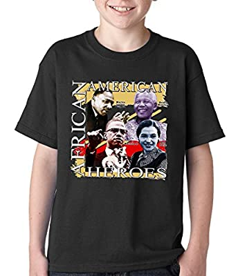 BeWild Brand® - Full Color African American Heroes Kids T-shirt