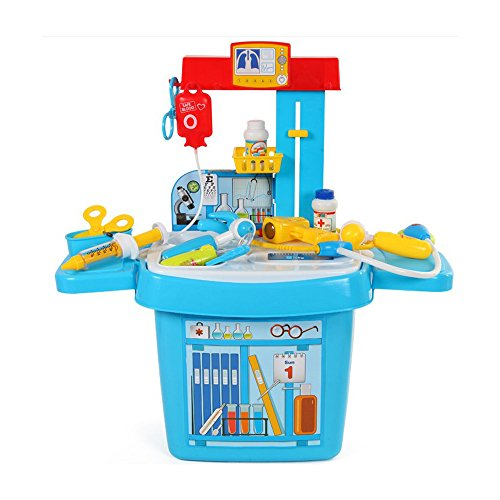 Youtop-Doctor-Play-Set-Medical-Table-Pretend-Play-w-Storage-for-Toddlers-Blue