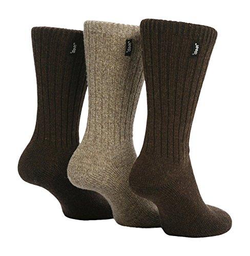 jeep-3-pares-calcetines-lana-hombre-senderismo-caminar-en-negro-y-marron-marron