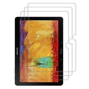 3x kwmobile® film de protection pour écran Samsung Galaxy Note 10.1 P600 Edition 2014 TRANSPARENT. Qualité supérieure