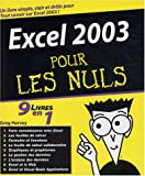 echange, troc G. Harvey - Excel 2003, 9 en 1 pour les nuls