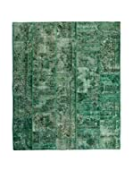 CarpeTrade Alfombra Vintage Persian Collage (Verde)