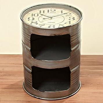 Cómoda con reloj bajo el tablero en forma de barril de petróleo 59 cm Altura