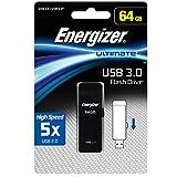 Energizer エナジャイザー メモリ (64GB, USBメモリ 3.0 黒のスライダー)
