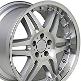 18-inch Fits Mercedes Benz - Monoblock Split Spoke Aftermarket Wheel - Silver Machined Face 18x9.5 - REAR FITMENT ONLY