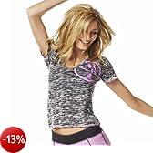 Zumba Fitness, Maglietta Donna Many Moons A-Glow Maglietta con scollo a V, Nero (Black), L