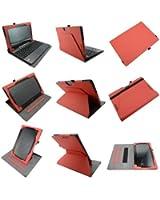 Coodio® Smart Asus Transformer Book T100TA 360 étui en cuir avec support prise manuelle intégré (support clavier) - Rouge