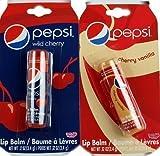Set of 2 Novelty Pepsi Cola Lip Balms - Vanilla And Cherry Coke Flavour