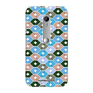 HomeSoGood Bee Hive Pattern Multicolor 3D Mobile Case For Moto G 3rd Gen (Back Cover)