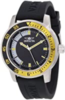 Invicta Men's 12846 Specialty Black Dial Watch with Yellow/Black Bezel by Invicta