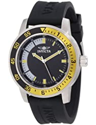 Invicta Watches, Men's Specialty Black Dial Black Silicone, Model 12846