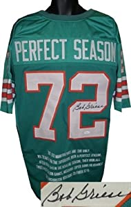 Bob Griese Autographed Hand Signed Miami Dolphins #72 Perfect Season Teal Prostyle... by Hall of Fame Memorabilia