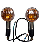 51GNJgts 8L. SL160  Chrome Amber Round Motorcycle Turn Signals for Harley Davidson Chopper
