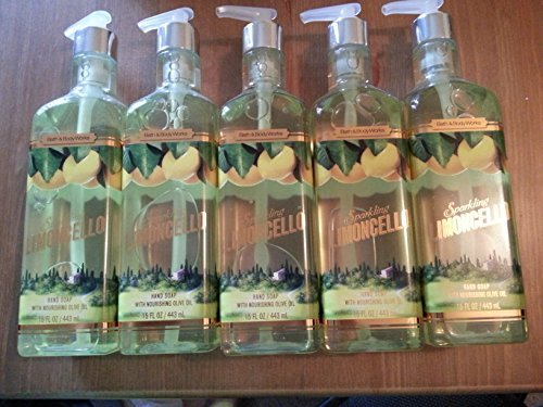 Bath & Body Works discount duty free Lot of 5 Sparkling Limoncello Hand Soap with Nourishing Olive Oil 15 Fl Oz By Bath and Body Works by Bath & Body Works