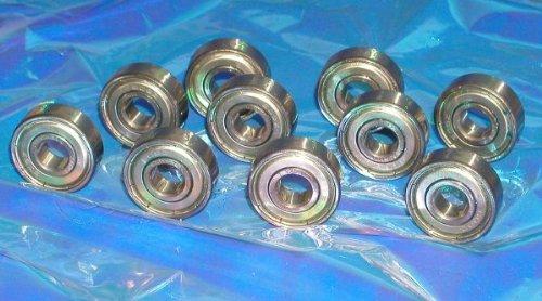 8 Skateboard Bearings 608Z Shielded