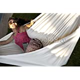 Hammock Sky(TM) Brazilian Hammock - Two Person Double for Backyard, Porch, Outdoor or Indoor Use - Portable for Camping - Soft Woven Cotton Bed for Supreme Comfort (Natural)