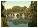 Cambridge, Clare College Bridge Over The River Cam - English Photochrome - EPC136 Matte Paper A2 Size