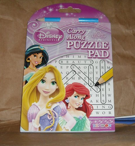 Disney Princess Carry Along Puzzle Pad - Find a Word Puzzles with Pencil