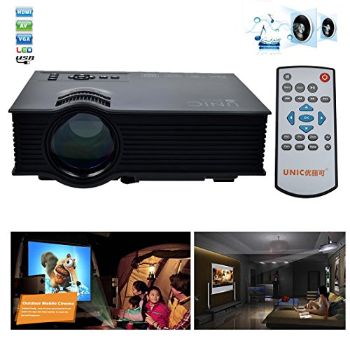 Corprit 1080P UC46 Wifi Wireless LCD LED Pro Video Projector Protable 1200 Lumens Cinema Home Theater Multimedia Projector