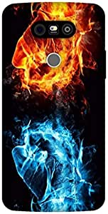The Racoon Grip Flames hard plastic printed back case / cover for LG G5