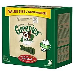 GREENIES Dental Chews Value Tub Treat for Dogs, 36oz Regular