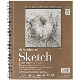 Strathmore Series 400 Sketch Pads 9 in. x 12 in. - pad of 100 (6-Pack)