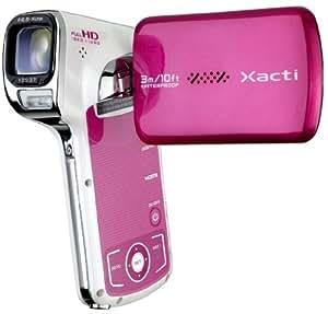 Sanyo Xacti VPC-CA100 Caméscope Full HD + Appareil photo Zoom Optique 5x 14 Mpix Etanche Rose