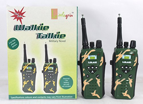 little grin Littlegrin Wireless MILITARY WALKIE TALKIE SET Radio Control with Antenna TOY for kids