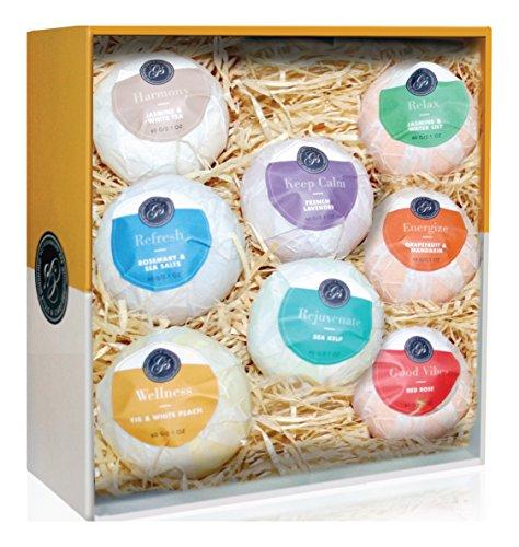 Grace & Stella Ultra Lush Essential Oil Handmade 8 Bath Bombs Gift Box Set