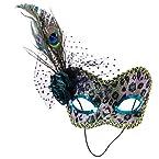 Peacock Print Mask