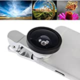Generic HE-33 Universal 180 Degree Fisheye Lens + Marco Lens + Super Wide 0. 4X Lens With Clip, Suit For IPhone 6 & 6 Plus, Samsung, HTC, Cameras(Silver)