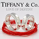 TIFFANY&Co.(ティファニー) LOVE OF DESTINY~運命の赤い糸~1837ペアリング レディースダイヤ入りVer.(赤い糸+刻印+ダイヤ0.015CT 直径約1.4mm前後+ラッピング付) 並行輸入品