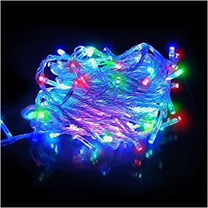LED Icicle String Christmas Rope Light 32 ft /10m, 100 ct. MultiColor Lights