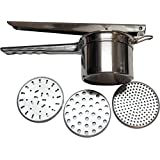 Best Stainless Steel Potato Ricer. Professional Grade Potato Masher From Gypsy's Kitchen. Use As a Juice Press, Potatoes Ricer, or Baby Food Mill. 3 Inserts Ensure Versatility. Make Better Mashed Potatoes Today.