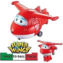 SUPER WINGS MINI TRANSFORM A BOTS JETT - PRODOTTO ITALIA - AULDEY CARTOONITO