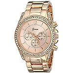 Geneva Women's 2409C-GEN Analog Display Quartz Rose Gold Watch