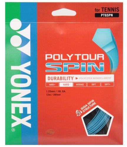 ヨネックス(YONEX) POLYTOUR SPIN (テニス用) コバルトブルー PTGSPN