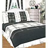 King Duvet Cover Set With Valance Sheet And 2 Pillowcases Charcoalby Matching Bedroom Sets
