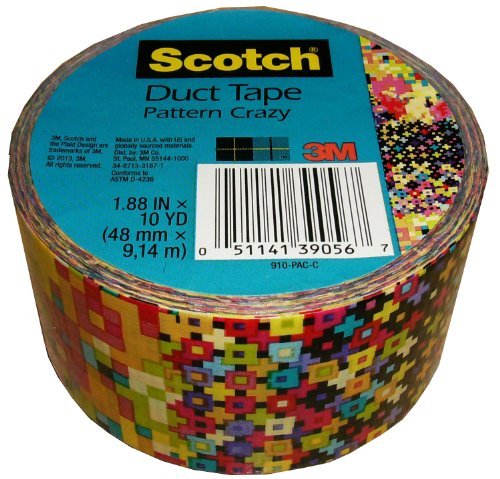 3M Scotch Pattern Crazy Duct Tape, 1.88 In. X 10 Yds. Single Roll
