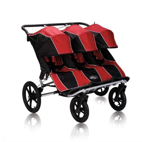 Baby Jogger Summit XC Triple Stroller, Red/Black