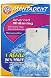 Mentadent Advanced Whitenening Anti-cavity Fluoride Toothpaste w/Baking Soda & Peroxide, Refreshing Mint, 1 Refill, 5.25 oz (148.8 g) (Pack of 3)