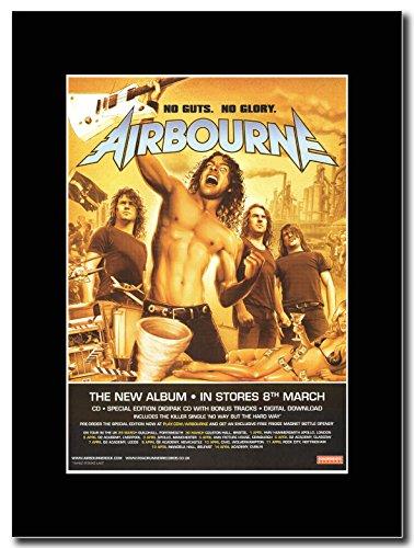Airbourne Asportazione dei visceri, senza No Glory Magazine Promo su un supporto, colore: nero