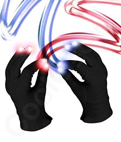Fun Central C061 LED Light Up Black Magic Gloves - 1